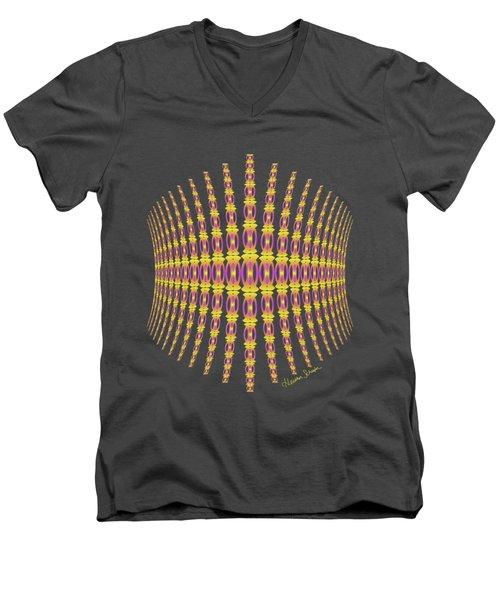 Purple And Gold Crown Men's V-Neck T-Shirt
