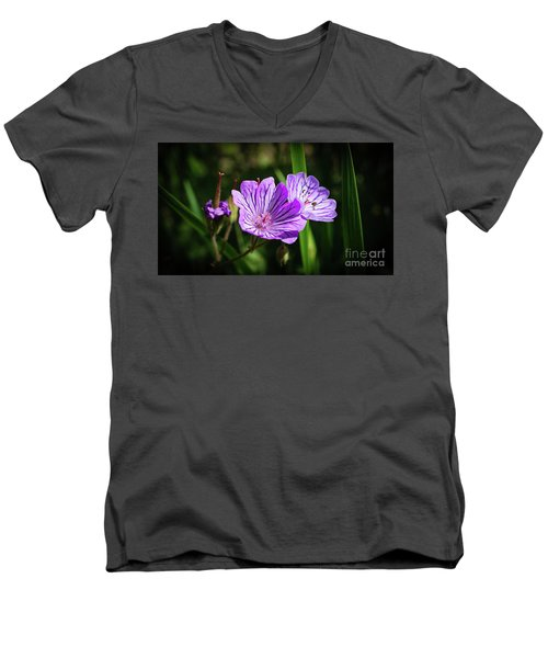 Purple Attraction Men's V-Neck T-Shirt