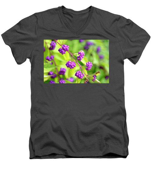 Purple Berries Men's V-Neck T-Shirt