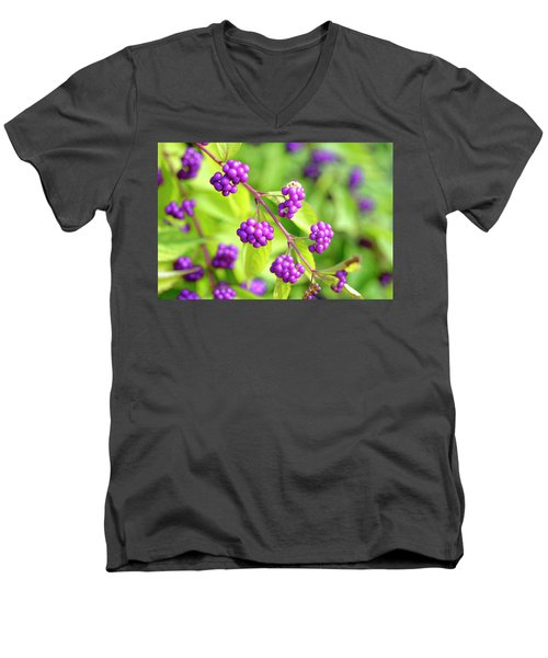 Purple Berries Men's V-Neck T-Shirt