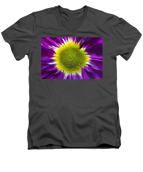 Purple Burst Men's V-Neck T-Shirt