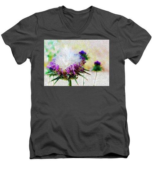 Purple Chaparral  Men's V-Neck T-Shirt