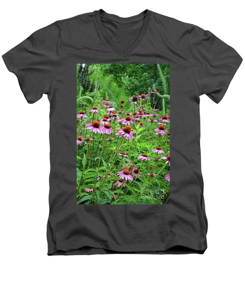 Purple Coneflower  Men's V-Neck T-Shirt