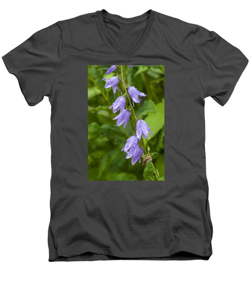 Purple Dew Drops Men's V-Neck T-Shirt