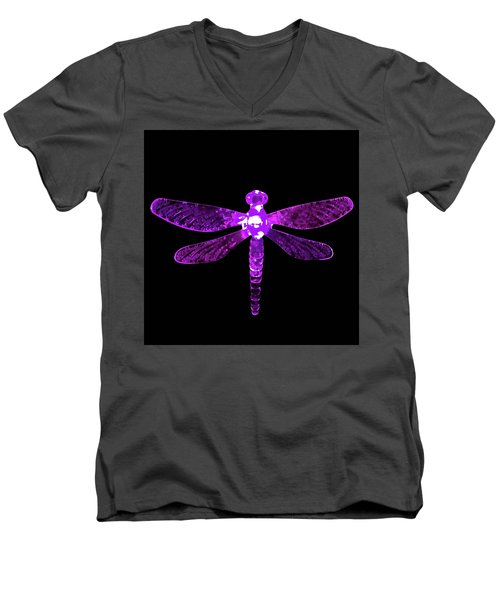 Purple Dragonfly Men's V-Neck T-Shirt