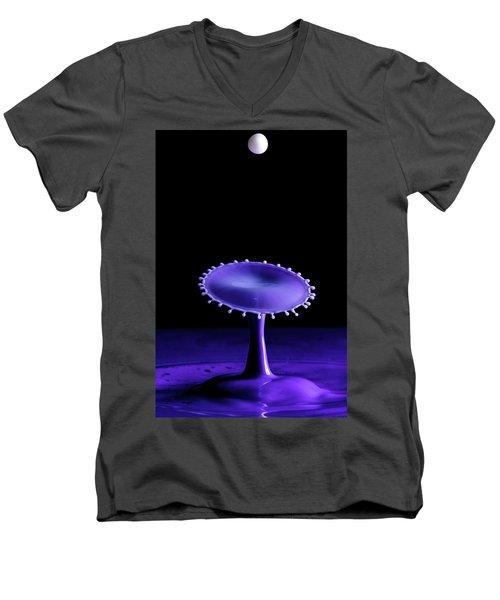Purple Drop Men's V-Neck T-Shirt