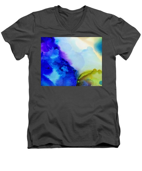 Purple Flow Men's V-Neck T-Shirt