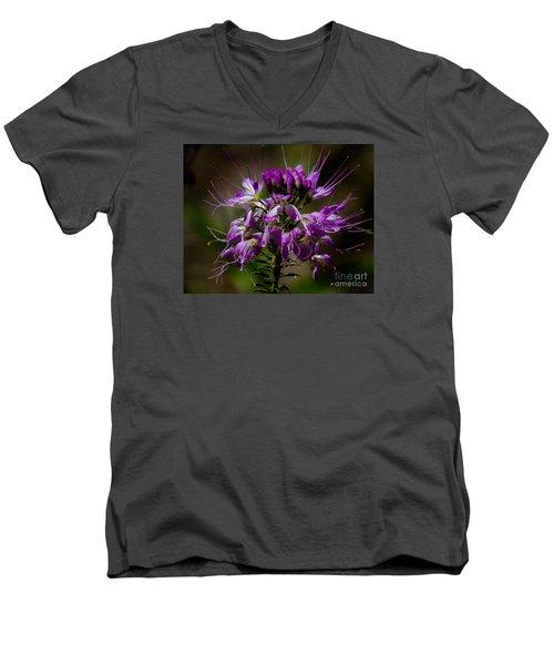 Purple Flower 1 Men's V-Neck T-Shirt