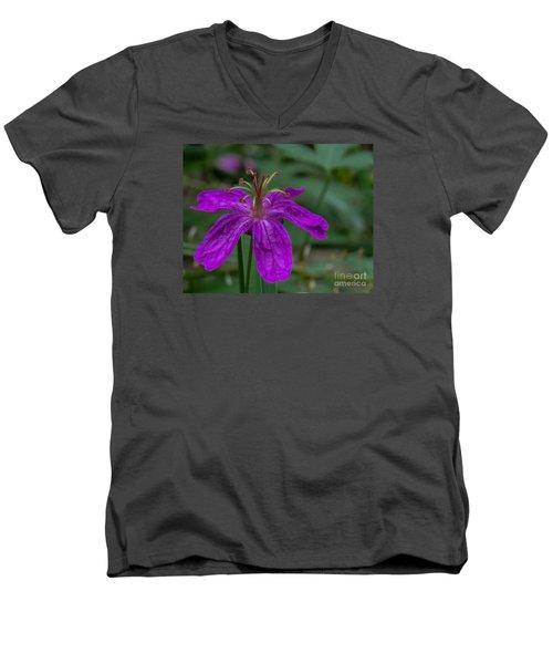 Purple Flower 5 Men's V-Neck T-Shirt