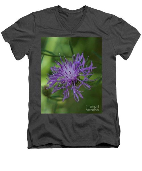 Purple Flower 8 Men's V-Neck T-Shirt