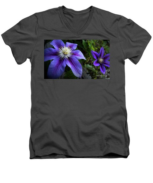 Men's V-Neck T-Shirt featuring the photograph Purple Flowers by Brian Jones