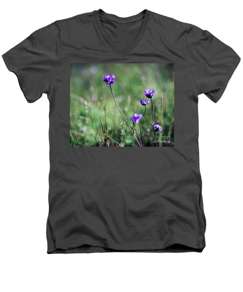 Men's V-Neck T-Shirt featuring the photograph Purple Flowers by Jim and Emily Bush