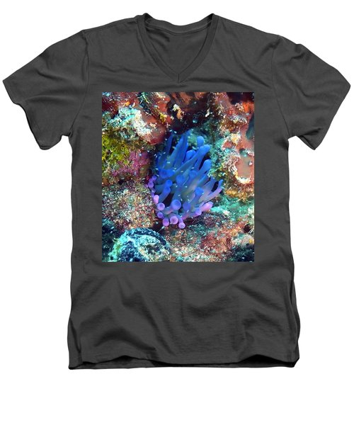 Purple Giant Sea Anemone Men's V-Neck T-Shirt