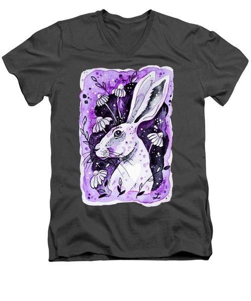 Purple Hare Men's V-Neck T-Shirt