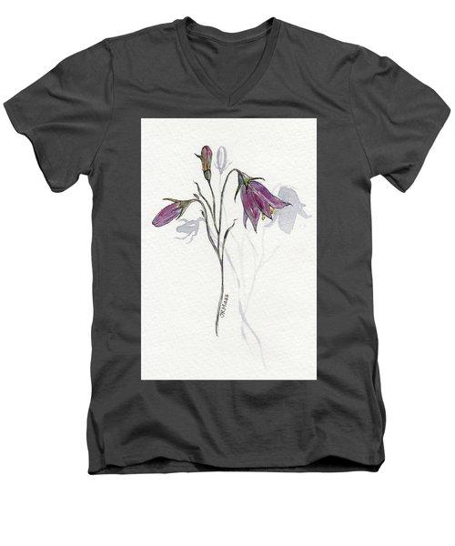 Purple Harebell Men's V-Neck T-Shirt