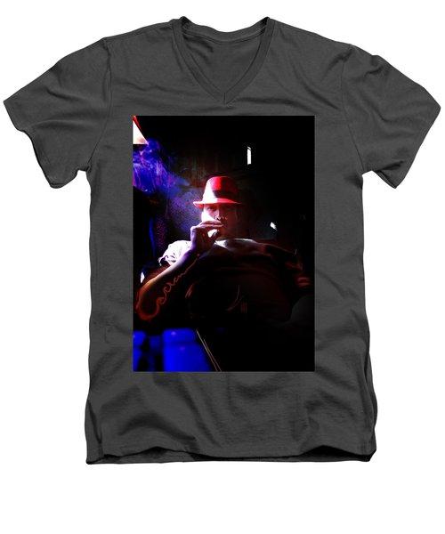 Purple Haze Boss  Men's V-Neck T-Shirt