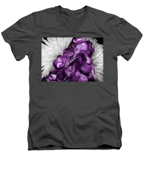 Purple In The White Men's V-Neck T-Shirt