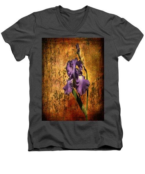 Purple Iris At Sunset Men's V-Neck T-Shirt