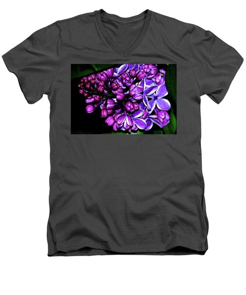 Purple Lilac Men's V-Neck T-Shirt