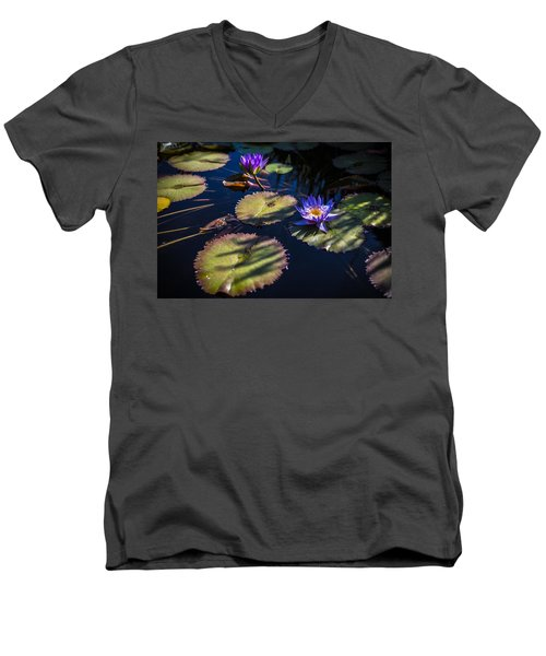 Purple Lily Men's V-Neck T-Shirt