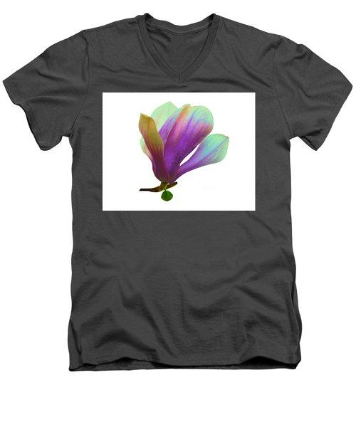 Purple Magnolia Men's V-Neck T-Shirt