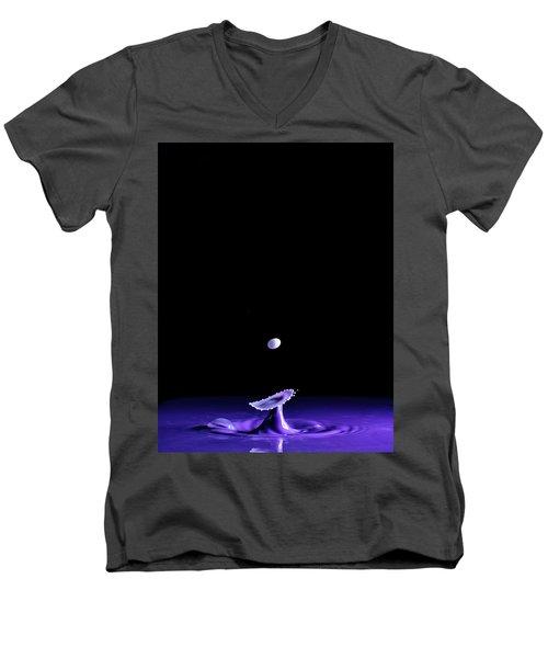 Purple Mushroom Men's V-Neck T-Shirt