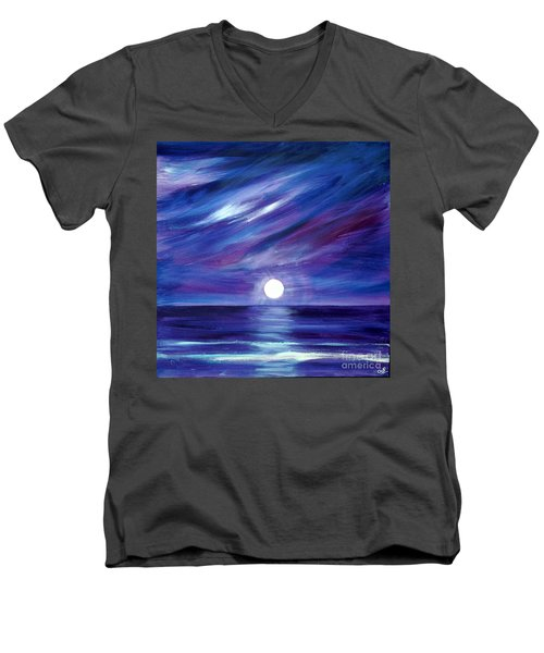 Purple Night Men's V-Neck T-Shirt