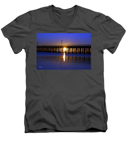 Purple Ocean Sunrise Men's V-Neck T-Shirt