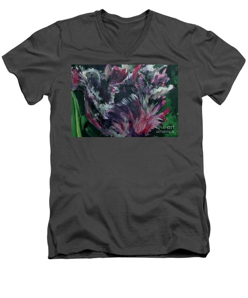 Purple Parrot Men's V-Neck T-Shirt