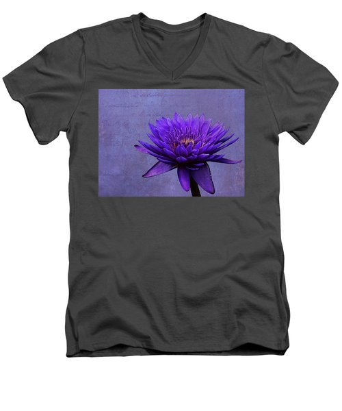 Men's V-Neck T-Shirt featuring the photograph Purple Passion by Judy Vincent