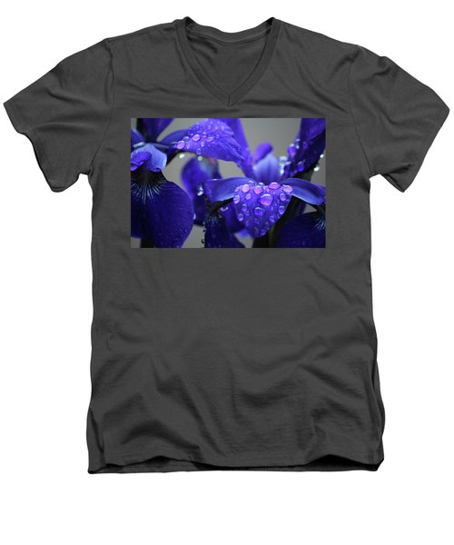 Purple Passion Men's V-Neck T-Shirt by Rowana Ray