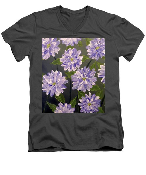 Purple Passion Men's V-Neck T-Shirt by Teresa Wing