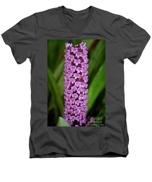 Purple Pillar Men's V-Neck T-Shirt