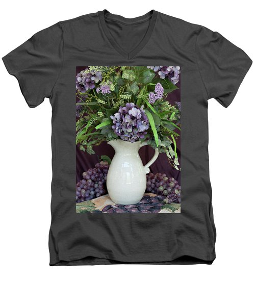 Purple Pleasures Men's V-Neck T-Shirt by Sherry Hallemeier