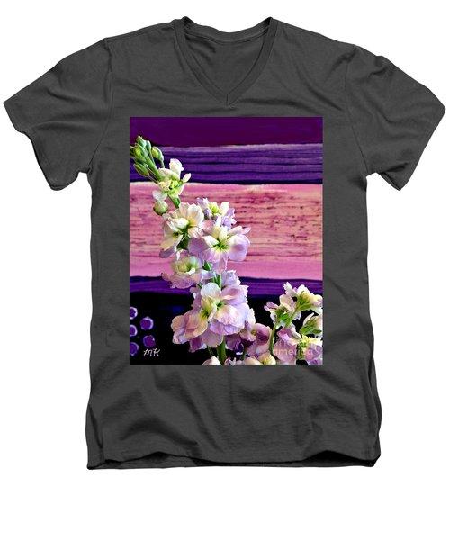 Men's V-Neck T-Shirt featuring the photograph Purple Purple Everywhere by Marsha Heiken