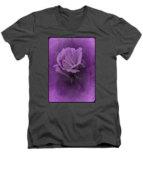 Purple Rose Of November No. 2 Men's V-Neck T-Shirt by Richard Cummings