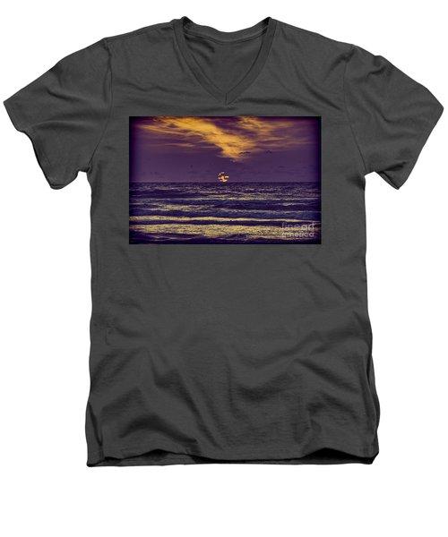 Purple Sunrise Men's V-Neck T-Shirt