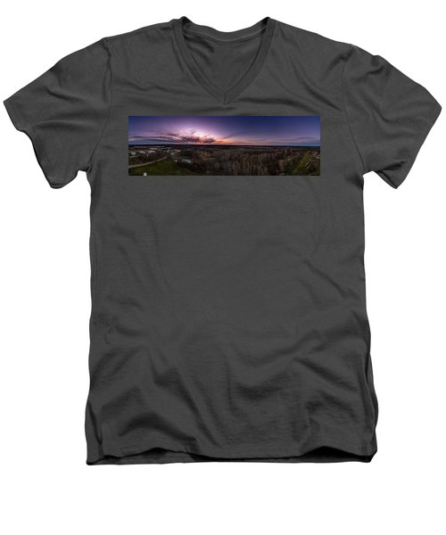 Purple Sunset Men's V-Neck T-Shirt