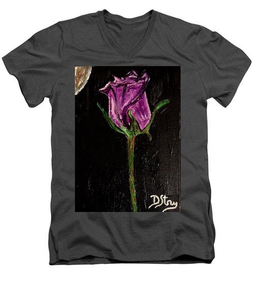Purple Under The Moon's Glow Men's V-Neck T-Shirt