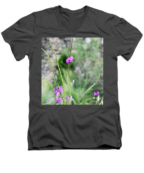 Purple Vebena Men's V-Neck T-Shirt