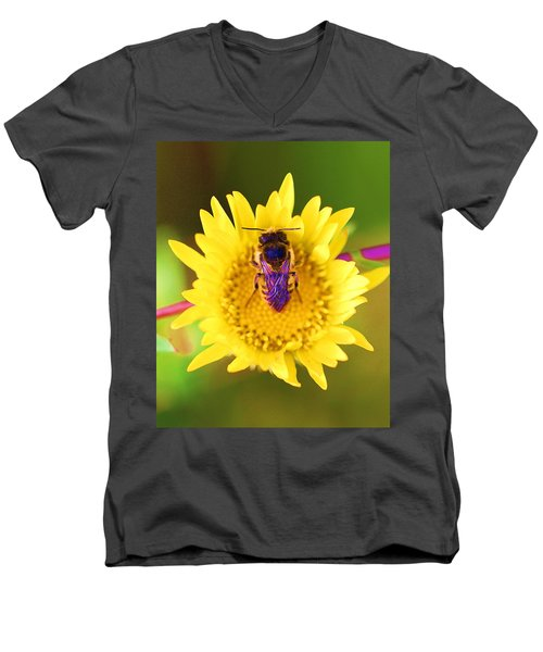Men's V-Neck T-Shirt featuring the photograph Purple Wings by John King