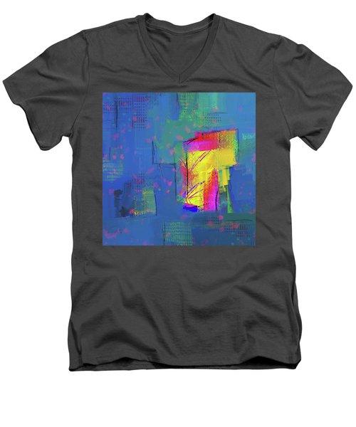 Purplish Rain Men's V-Neck T-Shirt