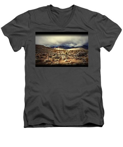 Men's V-Neck T-Shirt featuring the photograph Push by Mark Ross