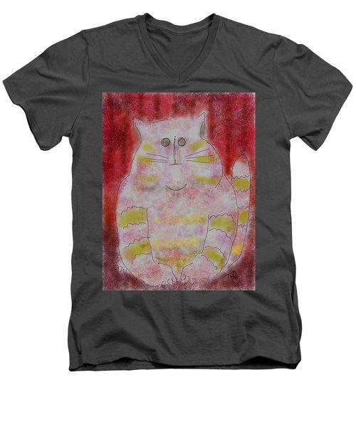 Pussy Cat Men's V-Neck T-Shirt