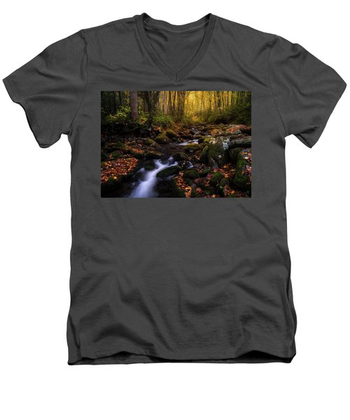 Put A Fork In It Men's V-Neck T-Shirt by Bjorn Burton