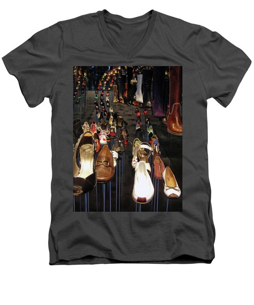 Put Your Shoes ... Men's V-Neck T-Shirt by Juergen Weiss
