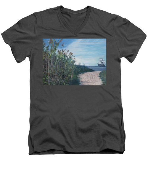 Putting Out To Sea Men's V-Neck T-Shirt