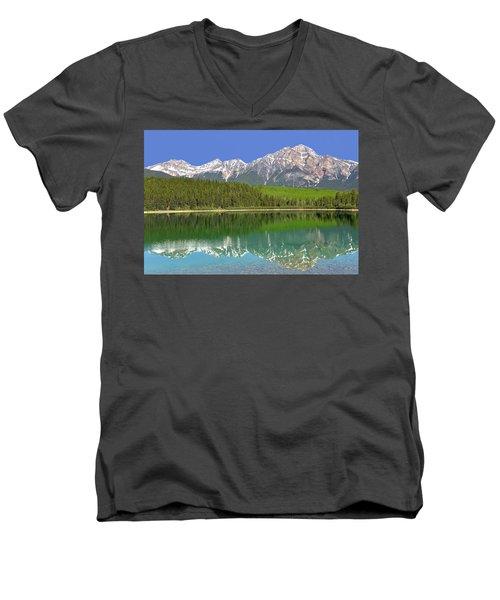 Pyramid Lake Reflection Men's V-Neck T-Shirt