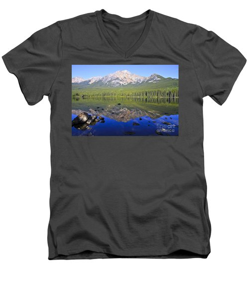 Pyramid Lake Reflection Men's V-Neck T-Shirt