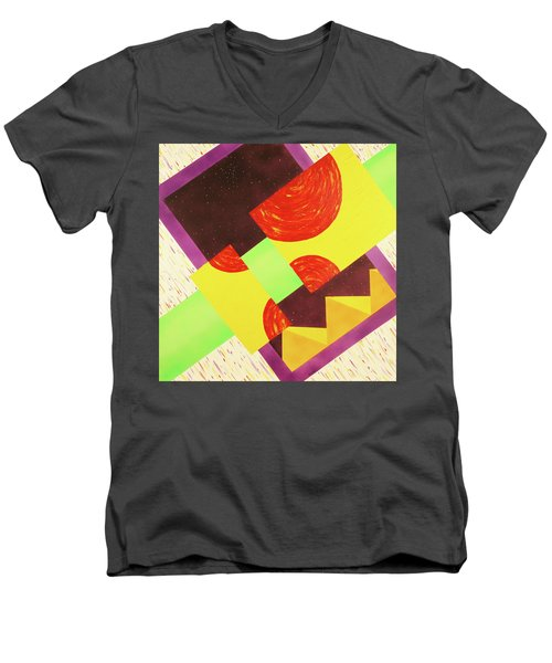 Pyramids And Pepperoni Men's V-Neck T-Shirt